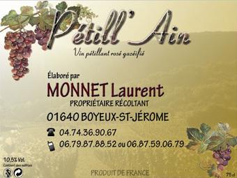 Etiquette Pétill'Ain